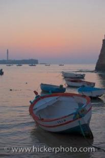 photo of Costa De La Luz Sunset Cadiz Harbour Andalusia Spain