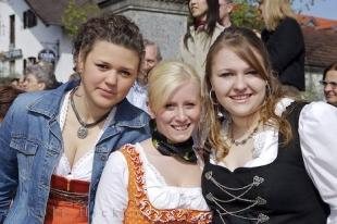 photo of Cute Girls Bavarian Traditional Clothing
