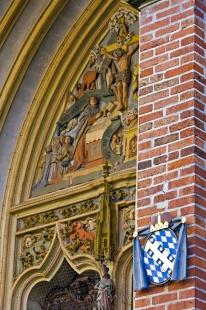 photo of Decorative St Martins Church Facade Landshut Bavaria Germany