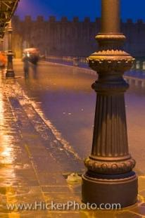 photo of Decorative Lamp Post Rainfall Piazza Del Duomo Pisa Tuscany Italy