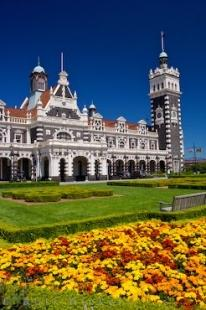photo of Dunedin City Railway Station Architecture Otago South Island New Zealand