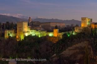 photo of Exterior View Alhambra Dusk Granada Andalusia Spain
