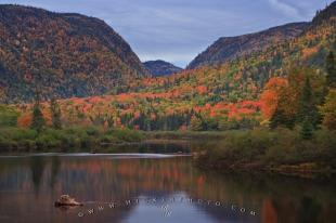 photo of Scenic Jacques Cartier River Fall Sunset Quebec