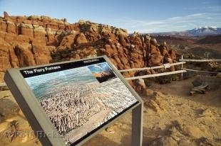 photo of Fiery Furnace Information Sign