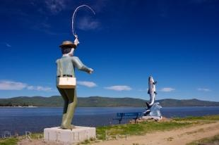 photo of Fisherman Statues Campbellton New Brunswick