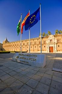 photo of Flags Parliament Buildings Andalucia Spain
