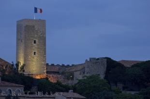 photo of Floodlit Tower Cannes Castle Provence