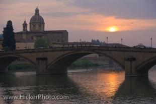 photo of Florence City Tuscany Italy Bridge Sunset