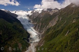 photo of Franz Josef Glacier NZ Helicopter Tour Aerial Picture