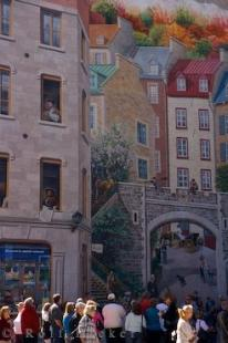 photo of La Fresque Des Quebecois Wall Mural Quebec City