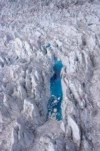 photo of Blue Fox Glacier Lake Aerial Photo Westland National Park NZ