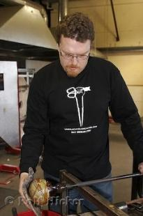 photo of Glass Blowing Demonstrator