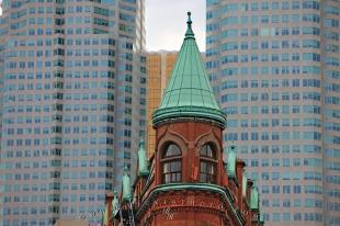 photo of Gooderham Modern Buildings Downtown Toronto Ontario Canada