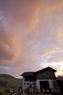 photo of Hammerwand Sunset Clouds South Tyrol Italy