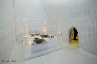 photo of ice hotel suite