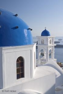 photo of Typical Blur Roof Church Imerovigli Images Santorini
