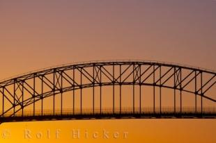 photo of International Bridge Sunset Sault Ste Marie Ontario