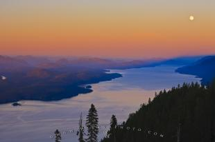 photo of Johnstone Strait Sunset Aerial