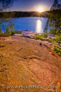 photo of Killarney Provincial Park Sunset George Lake Ontario Canada