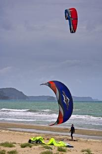 photo of Kite Boarding Recreation Orewa Beach North Island New Zealand
