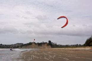 photo of Kiteboarding Location Orewa New Zealand