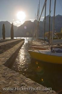photo of Lake Garda Sailboats Torbole Town Italy