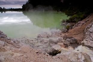 photo of Lake Ngakoro Waiotapu Thermal Wonderland New Zealand