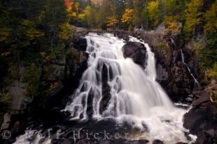photo of Landscape Waterfalls Autumn Forest Quebec