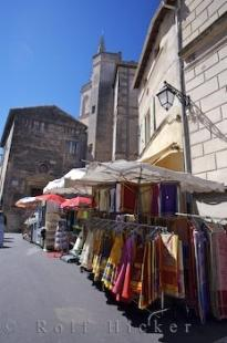 photo of Arles Les Arenes Market Stalls Provence France