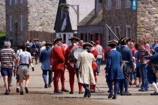 photo of Louisbourg Fortress Tourists Cape Breton Nova Scotia