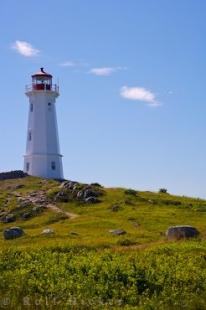 photo of Louisbourg Light Cape Breton Nova Scotia