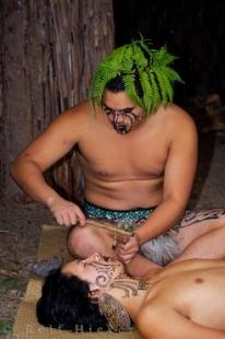 photo of Wairakei Terraces Maori Tattooing New Zealand