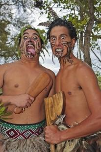 photo of Maori Warriors Wairakei Terraces Village North Island New Zealand