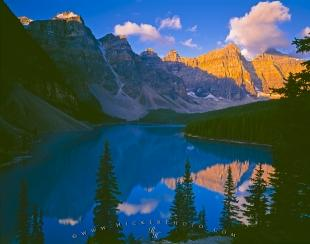 photo of Scenic Moraine Lake Sunrise Banff National Park Alberta
