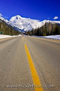 photo of Mount Robson Road Picture Winter Scenery