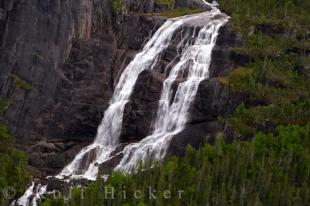 photo of Mountain Waterfall Aerial Southern Labrador