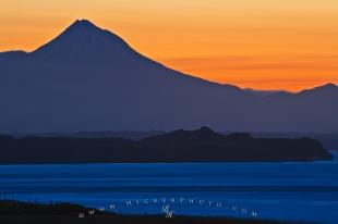 photo of Mt Taranaki Sunset NZ
