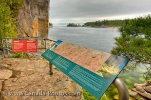 photo of Native Indian History Agawa Rock Lake Superior