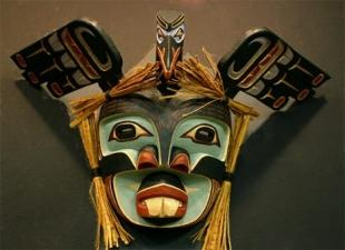 photo of Carved Mask Native American Art