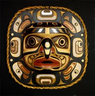 photo of Native American Symbols Hand Carved Mask