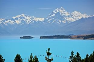photo of New Zealand Scenery Mt Cook Lake Pukaki