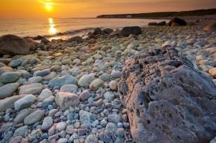 photo of Newfoundland Coastal Scenery Sunset Gros Morne National Park