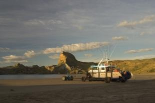 photo of Boat Tractor Castle Point North Island New Zealand