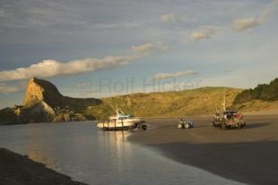photo of Boat Launching Castlepoint North Island NZ