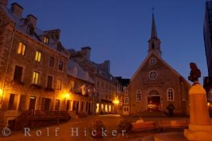 photo of L Eglise Notre Dame Des Victoires Place Royale Quebec City Canada