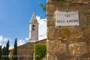 photo of Old Bell Tower Pienza Tuscany Italy