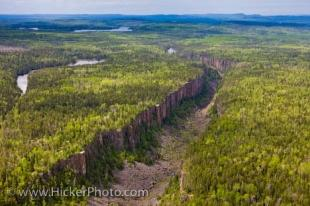photo of Aerial View Ouimet Canyon Provincial Park Ontario Canada