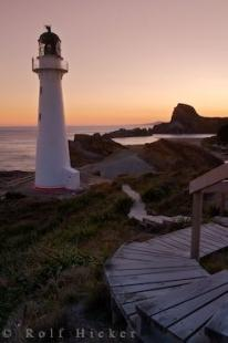 photo of Pacific Ocean Lighthouse Picture Castlepoint Wairarapa New Zealand