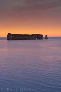 photo of Perce Rock Sunset Gaspesie Peninsula Quebec