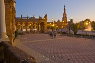 photo of Dusk Famous Plaza de Espana Seville
